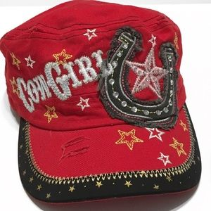 L.O.G.A. Embellished Women's Military Cap
